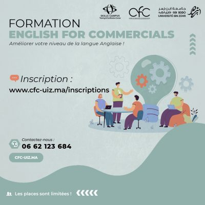 formation english for commercials formation en anglais agadir Maroc